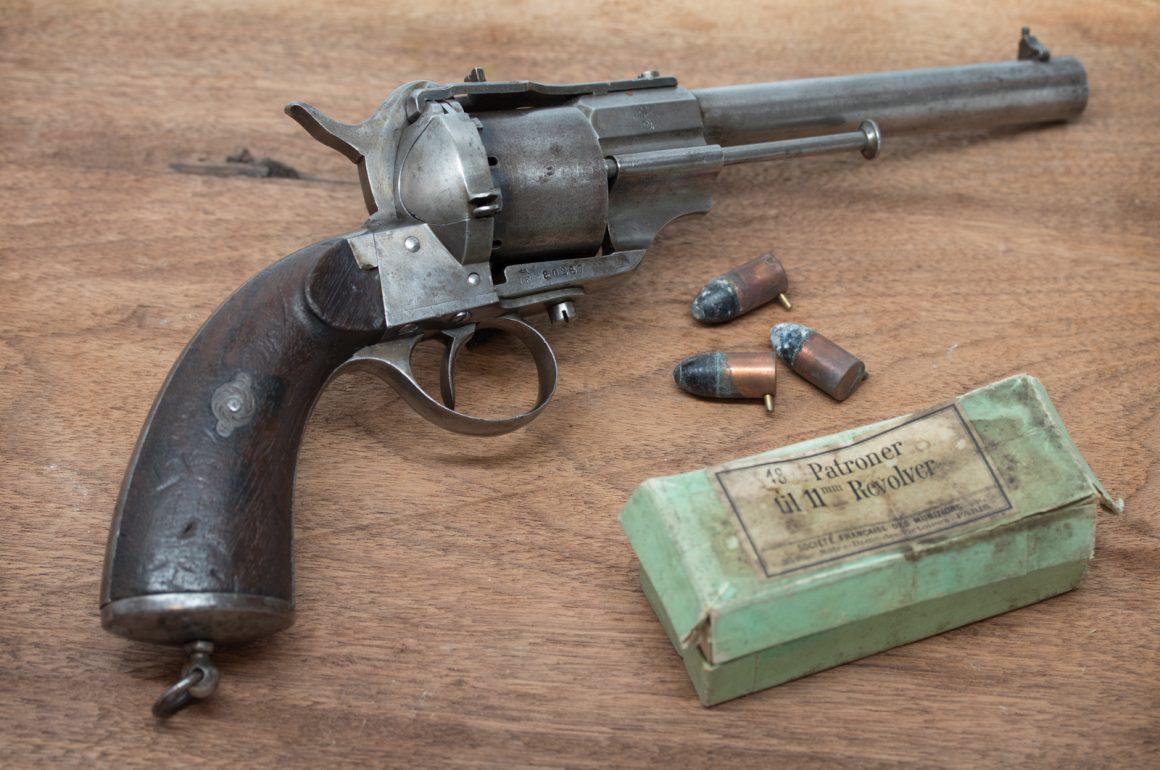Norwegian M/64/98 Lefaucheux Pinfire Revolver with Military Cartridge Box
